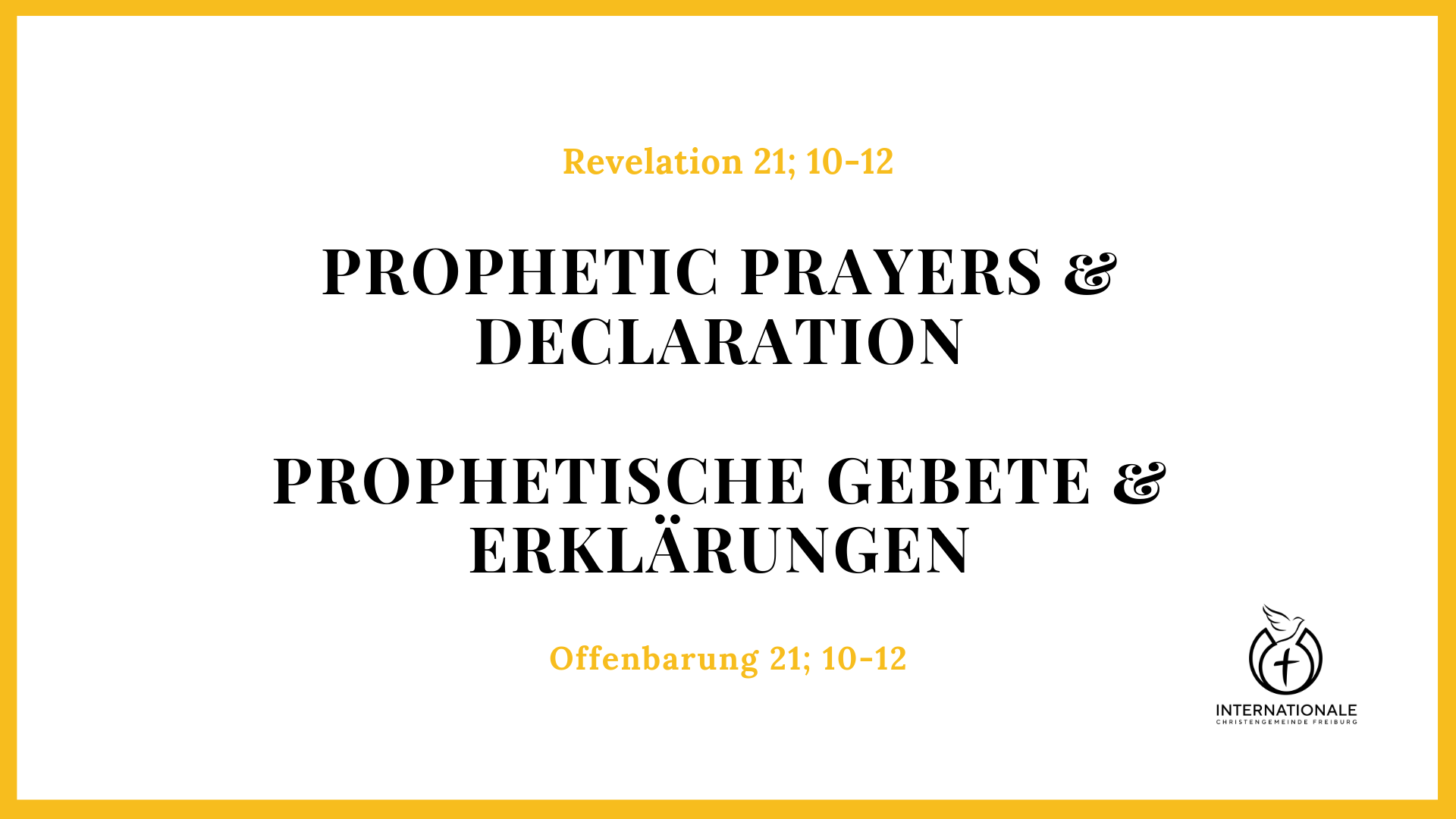 Prophetic Prayers And Declarations Pdf